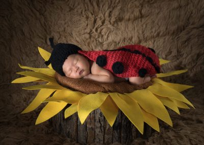 11-chinninguyenphotography newborn photography cute baby infant sleeping baby on sunflower